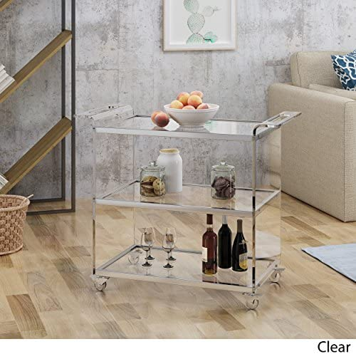 Christopher Knight Home Evee Acrylic Bar Trolley