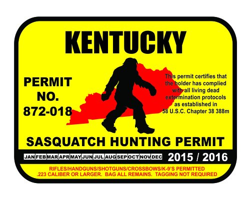 kentucky bigfoot hunting permits bigfoot gifts toys