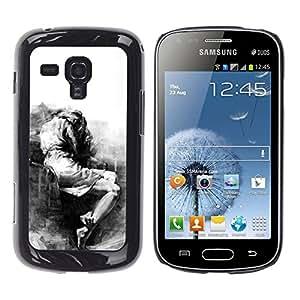 For Samsung Galaxy S Duos / S7562 Case , Sad Crying Depression Somber Heartbreak - Diseño Patrón Teléfono Caso Cubierta Case Bumper Duro Protección Case Cover Funda
