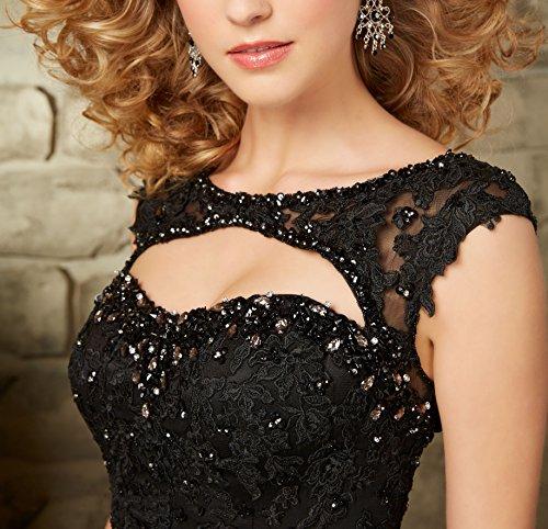 Bridal Nero Donna Mall Vestito ad linea a pS6OFpqxr