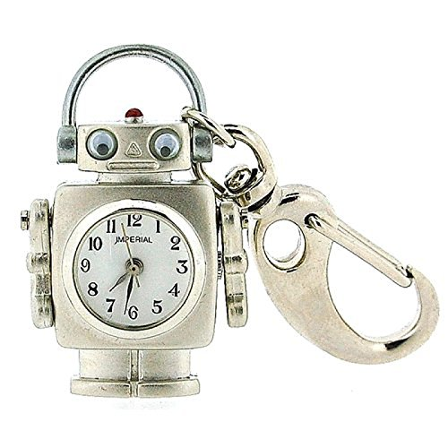 GTP Unisex Novelty Robot With Moving Eyes Clock Keyring An Ideal Gift IMP710 (Robot Keyring compare prices)