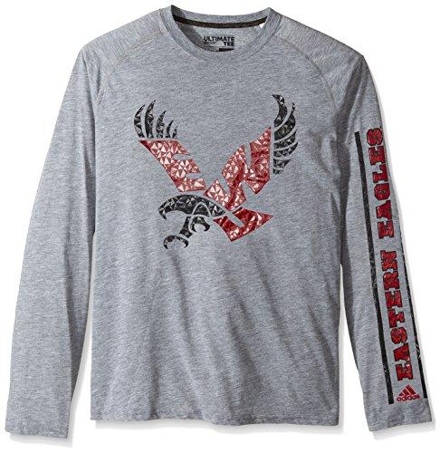 adidas NCAA Eastern Washington Eagles Adult Men Sleeve Play Ultimate L/S Tee, Medium, Medium Grey ()