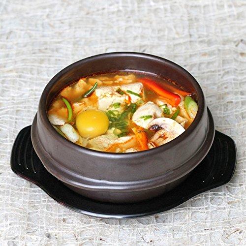 Crazy Korean Cooking Stone Bowl (Dolsot), Sizzling Hot Pot for Bibimbap and Soup Premium Ceramic No Lid, Medium by Crazy Korean Cooking (Image #2)