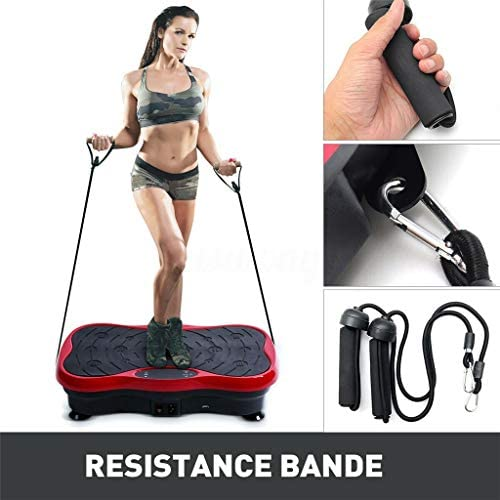 Printasaurus Vibration Machine Plate Exercise Machine - Whole Body Workout Vibration Fitness Platform w/Loop Bands and Remote Control- Home Training Equipment for Weight Loss & Toning 3