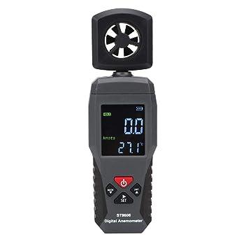 SMART SENSOR Wind Gauge ST9606 Anemómetro de mano portátil Medidor de velocidad del viento de flujo