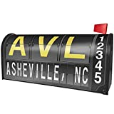 NEONBLOND AVL Airport Code for Asheville, NC Magnetic Mailbox Cover Custom Numbers