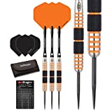 Red Dragon Amberjack 11: 30g - 90% Tungsten Steel Darts with Flights, Shafts, Wallet & Red Dragon Checkout Card