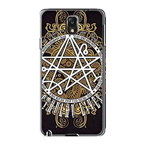Protector Hard Cell-phone Cases For Samsung Galaxy Note3 With Unique Design Attractive Metallica Skin MansourMurray