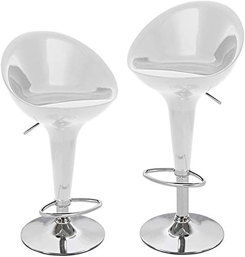 Beta Contemporary Bombo Style Adjustable Barstool – Silver Spoon