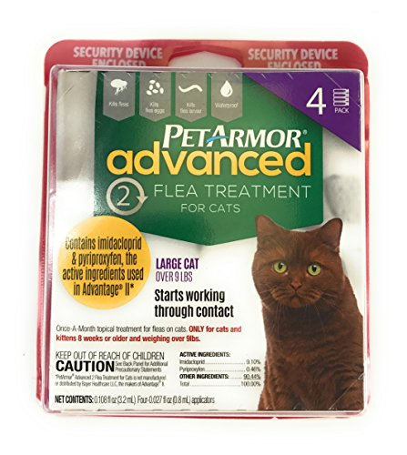 51ytAOBB7BL - Pet Armor Advanced treatment for cats large 9 LBS 4 pack