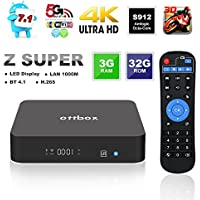 2017 Smart Android TV Box 3GB 32GB,OTTBOX Z Super Android 7.1 Amlogic S912 Octa Core 3D 4K HD 2.4G/5G Dual Band Wifi BT4.1 1000M Lan Ethernet