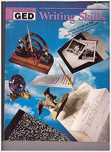 Book Writing Skills (Steck-Vaughn Ged) by Steck Vaughn (1990-06-03)