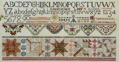 Quakers & Quilts cross-stitch pattern - Rosewood Manor - Karen Kluba