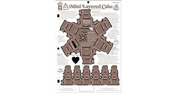 Amazon Com Mini Layer Cake Template By Hot Off The Press