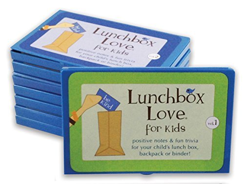 Price comparison product image Lunchbox Love Notes for Kids and fun trivia school lunchbox, backpack, or binder. (Volumes 1-8)96 positive lunch notes