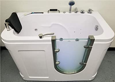 1 Person Walk-In Computerized Hydrotherapy Whirlpool Jetted Tub Spa