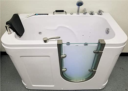 MCP Jetted Tubs 1 Person Walk-In Computerized Hydrotherapy Whirlpool Jetted Tub
