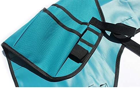 ツールエプロン、ガーデンオーバーオールバッグ、工作エプロン。機械メンテナンス、庭のトリミング、衛生用グリーンクリーニングなどに使用されます。,Black