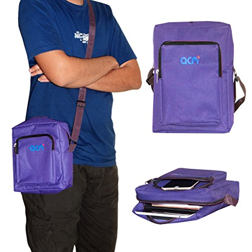 Acm Classic Soft Padded Shoulder Sling Bag Compatible with Lenovo Ideapad A1000 Carrying Case Purple