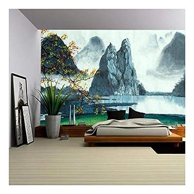 Chinese Mountains Fog Autumn and Lake, Premium Creation, Majestic Expertise