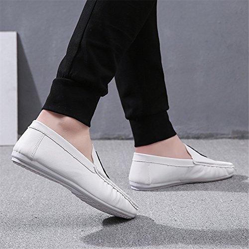 Verano Libre Blanco de Ons Al Suela y Primavera Casual PU Aire Paseo Ligera de Blanco Mocasines HUAN Zapatos Hombre Zapatos Comfort Rojo Slip Negro wXWHqnSgC