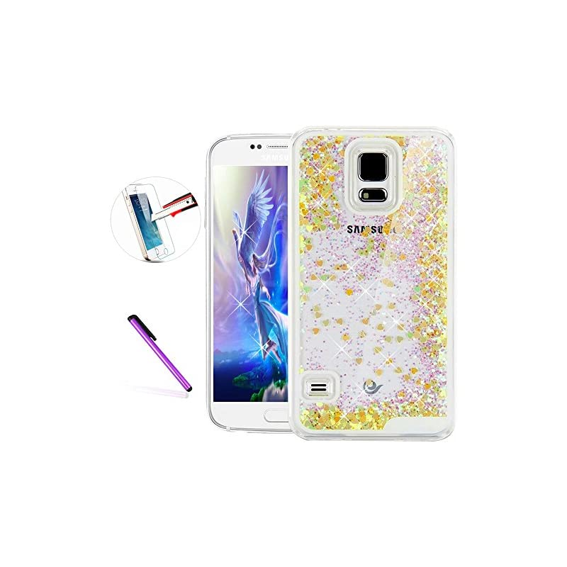 Samsung Galaxy S5 Case,ISADENSER Glitter