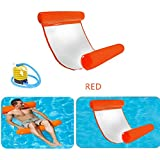 SHENGLONG Water Float Hammock Premium Swimming Pool Lounger, Pool Float Swimming Pool Floating Water Hammock Lounge (Orange)