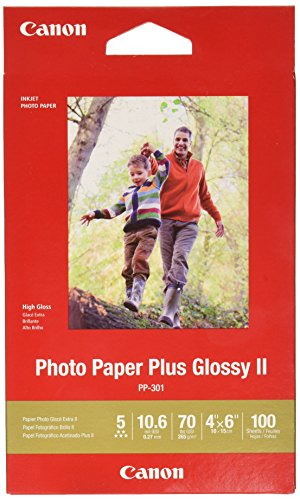 Canon Photo Paper Glossy 4 x 6 Inches, PP-301, 100 Sheets 4x6 Glossy Photo Paper
