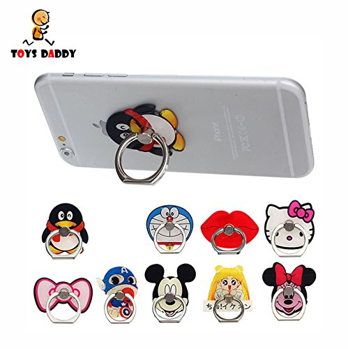 Game  Fun  Ring Stand Holder Support For Mobile Phone Action Figure Cartoon Minnie Mickey Sailor Moon Captain America Hello Kitty Doraemon  Toy  Play