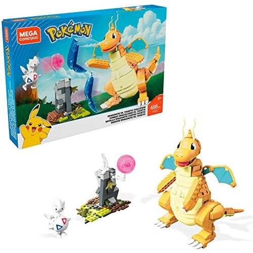 chollos oferta descuentos barato Mega Construx Pokemon Figuras Dragonite vs Togetic Challenge Juguetes de Construcción Niños 6 Años Mattel FVK75