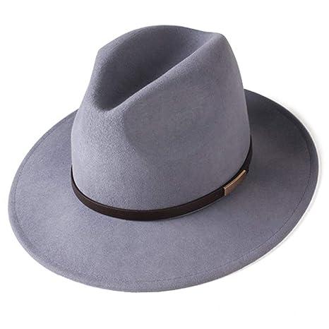 Jiushilun Sombreros para Mujeres Hombres Fieltro ala Ancha Vintage ...