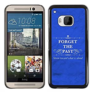 Paccase / SLIM PC / Aliminium Casa Carcasa Funda Case Cover para - BIBLE Forget The Past - HTC One M9