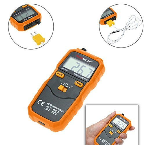 PM6501 K type Digital Thermometer -58℉~1382℉ Temperature Meter with Type K Thermocouple Sensor Probe
