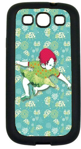 Samsung Galaxy S3 i9300 Cases Customized Gifts Cover Little girl redhead sitting on floor - ladybugs background Case for Samsung Galaxy S3