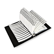 OneBelief [1206] 1/4W Package SMD Resistor Assorted Folder (0 ohm-10M ohm)170 Value x 50PCS Chip Complete Resistors Booklet [Accuracy 1% Tolerance] [8500 PCS]