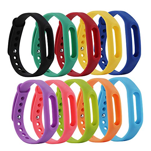 Tkasing Replacement Bands for XiaoMi XiaoMi Band Strap 1 1S Bracelet Replacement Wristband Smart Band Accessories (No Tracker) (13#)