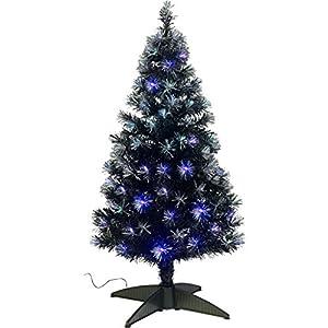Black Fiber Optic Christmas Tree Rainforest Islands Ferry Fibre 4ft