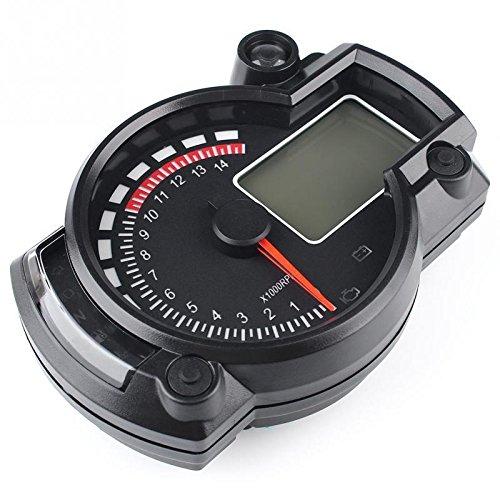 SODIAL 7-Couleur LED Moto RX2N ATV LCD Compteur de tachymetre numerique Compteur de vitesse 15000rpm 151924