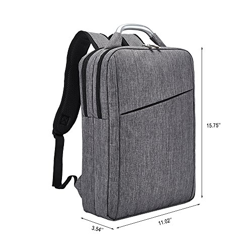 Business Laptop Backpack, Slim Durable College School Backpack for Men and Women, Lightweight Travel Computer Bag Fits under 15.6 inch Laptop and Notebook (Gray) by Covax (Image #3)