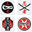 Fun Express Assorted Ninja Warrior Temporary Tattoos - 72 Piece Pack