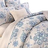 flower bed designs Softta Luxury Floral Bedding Design 800 Thread Count 100% Cotton 3Pcs Duvet Cover Set, Queen Size, Flower 1