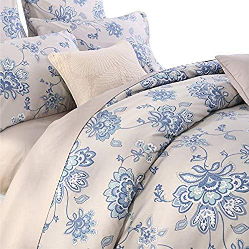 Softta Luxury Floral Bedding Design 800 Thread Count 100% Cotton 3Pcs Duvet Cover Set, Queen Size, Flower 1