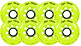 Labeda Inline Roller Hockey Skate Wheels Addiction Yellow 80mm SET OF 8
