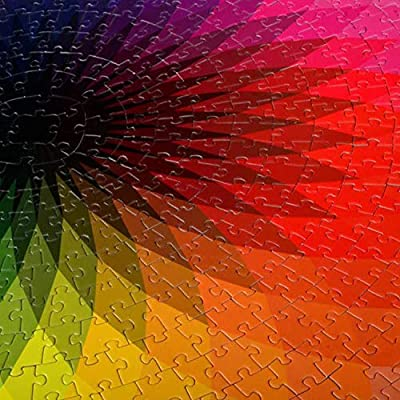 1000 Piece Puzzles for Adults Teen - Gradient Color Rainbow Large Round Jigsaw Puzzle Difficult and Challenge: Arts, Crafts & Sewing