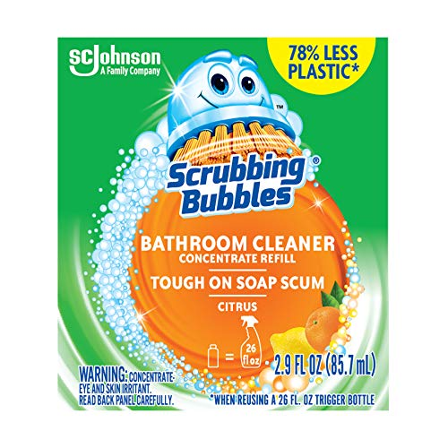 Scrubbing Bubbles Multi Surface Bathroom Cleaner Concentrate, Two 2.9 oz Concentrated Refill Bottles