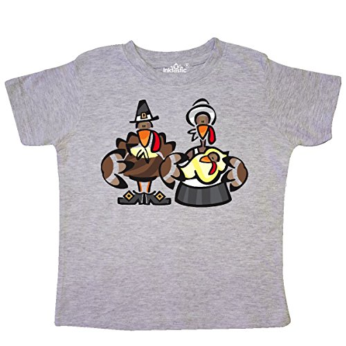 inktastic - Mr. and Mrs. Tom Turkey Toddler T-Shirt 5/6 Heather Grey -