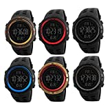 Mens Military Watch, Sports Wrist Digital Watch with Large Dial Fashion LED Electronic Wristwatch Army Water Resistant Watches
