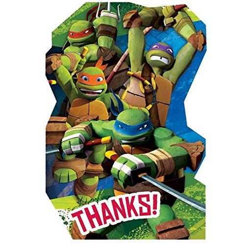 8-Count Teenage Mutant Ninja Turtles Postcard Thank You Notes -