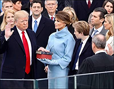 Wall Art Print ~ U.S. National Photo: President Trump Inauguration - as he is Being Sworn in