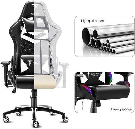 Berserker Gaming schienale 85 x 55 cm sedia: 53 x 54 cm Sedia da gaming altezza: 126-136 cm